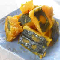 Delightful Kabocha Squash Stewed in Ginger and Miso