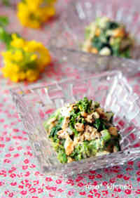Broccolini and Egg Dressed in Tuna-Mayonnaise