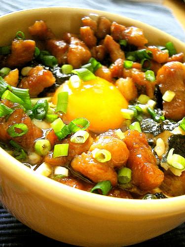 Cubed Pork Belly Rice Bowl