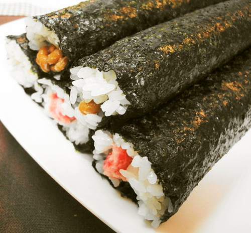 Negitoro Sushi Rolls and Natto Sushi Rolls for Setsubun