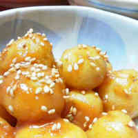 Cooked with a Pressure Cooker: Fresh Potatoes with Sweet Miso