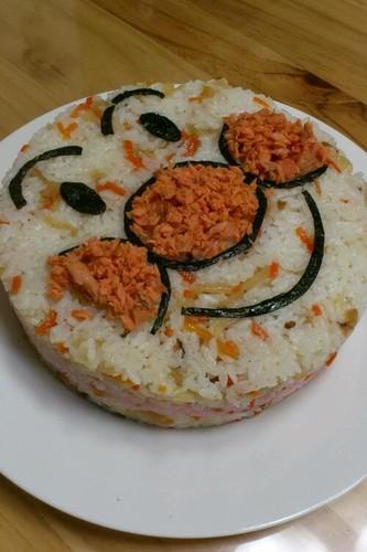 Chirashi Sushi Caracter Cake