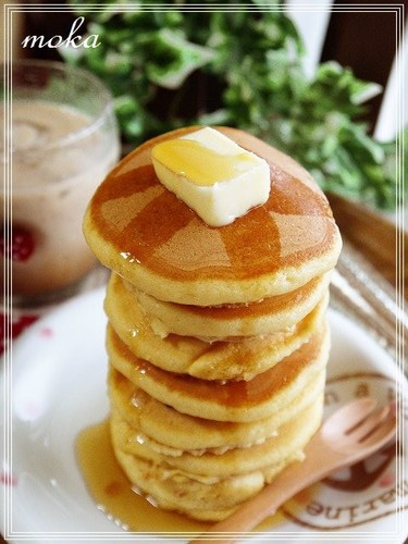 Fluffy Pancakes Made with Bread Flour