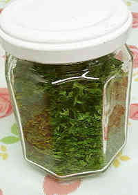 Drying and Storing Parsley