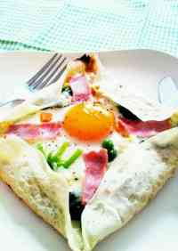 Easy Galette-Style Fried Egg with Pancake Mix
