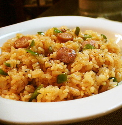 Ketchup Rice (Made With Leftovers)
