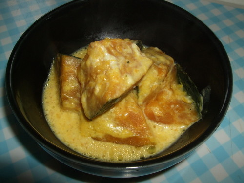 Comforting! Kabocha Squash Simmered In Milk With Shio-Koji Salt Cured Rice Malt