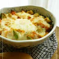 Simple Cheesy Rice Casserole with Avocado and Kimchi