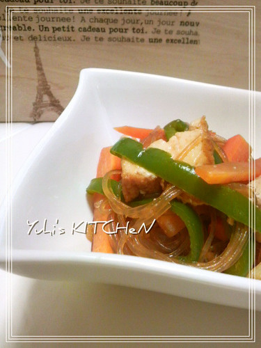 Hearty but Meat-free Japchae with Atsuage