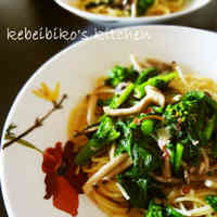 Spaghetti Aglio e Olio with Nanohana and Fermented Krill