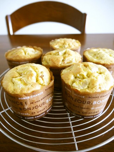 Banana Muffins Made With Pancake Mix