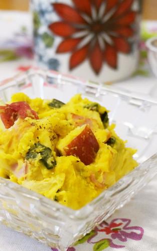 Kabocha Squash and Sweet Potato Salad