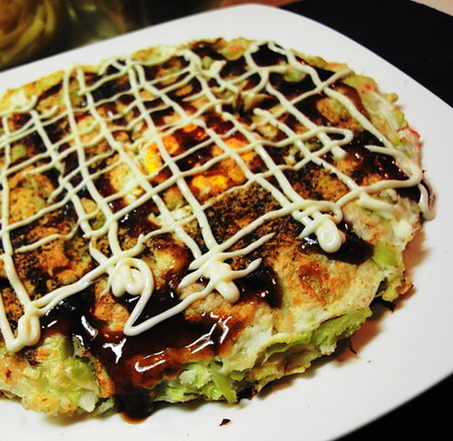 Okonomiyaki with Lots of Spring Cabbage