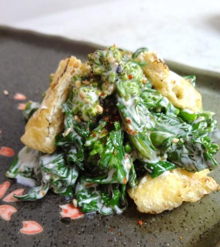 Vegan-Friendly Nanohana and Aburaage Salad