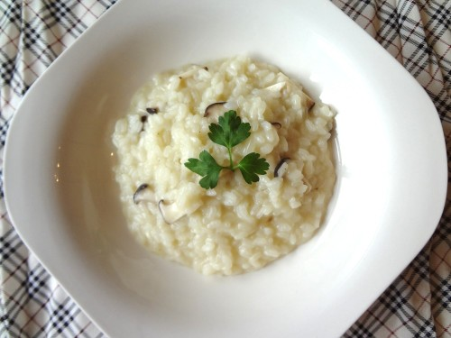 King Oyster Mushroom Risotto (Vegan Friendly)
