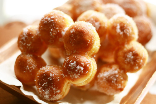 "Chewy and Moist  ""Pon-de-Ring"" Doughnuts"