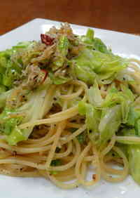 Spring Cabbage and Jako Fish Aglio Olio e Peperoncino