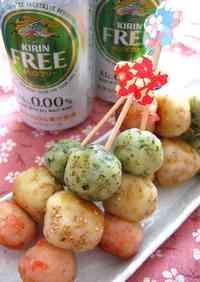 Tricolor Potato Balls For Cherry Blossom Viewing