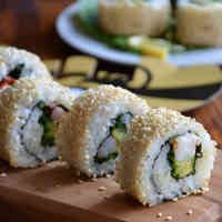 Avocado Shrimp California Rolls
