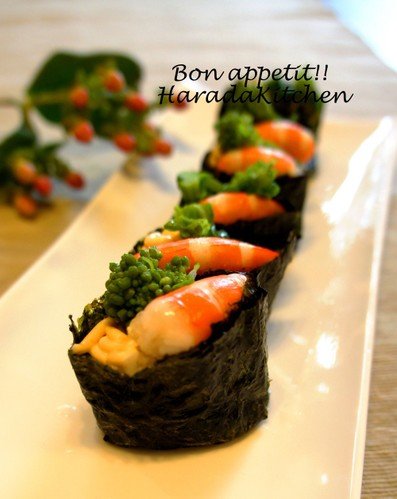 Broccolini and Shrimp Sushi Rolls