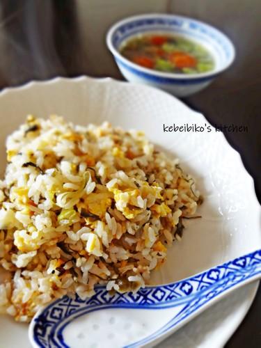 Takana & Fermented Krill Fried Rice