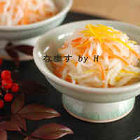 Daikon Radish and Carrot Namasu Pickles
