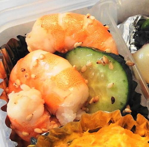 Shrimp and Cucumber Salad For Bentos