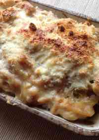Soy Milk Rice Casserole with Leek, Garlic & Chicken