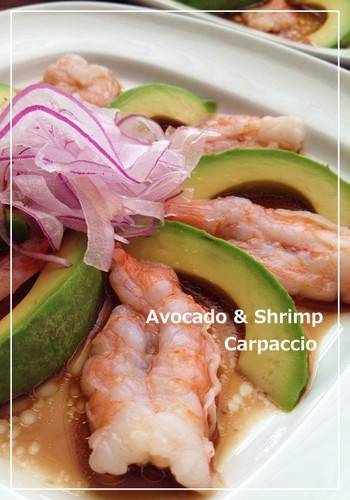 Shrimp and Avocado Carpaccio