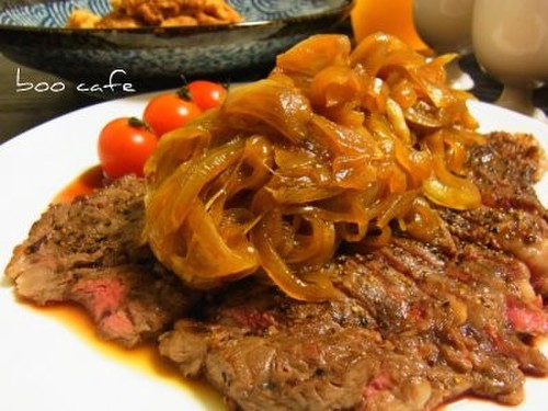 Bistro Beef Steak with Onion Sauce