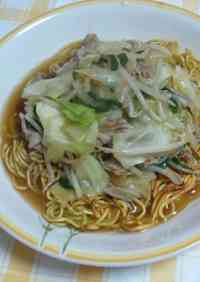 Easy Spring Cabbage Fried Noodles with Thick Sauce