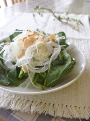 Spinach and Onion Popeye Salad