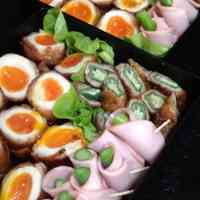 Creamy Meat-Wrapped Soft-Boiled Eggs