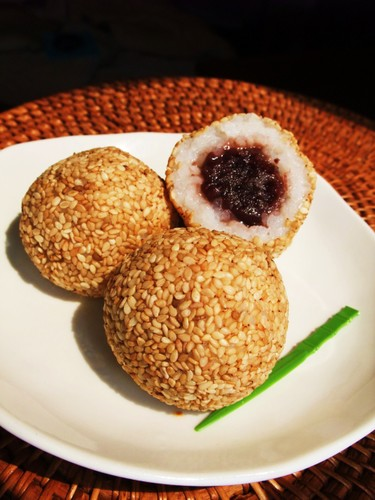 Non-fried Rice Sesame Balls