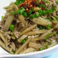 Easy Ground Meat and Burdock Root Rice Bowl