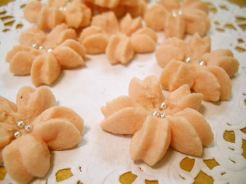 Sakura Spritz Cookies