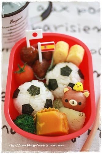 Charaben Soccer Ball Rice Balls