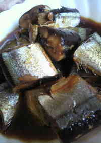 Tasty Candied Pacific Saury in a Frying Pan