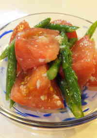 Marinated Tomatoes and Asparagus with Shio-Koji