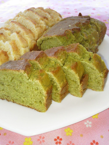 Superb! Non-Oil Okara Pound Cake (Green Tea Flavor)