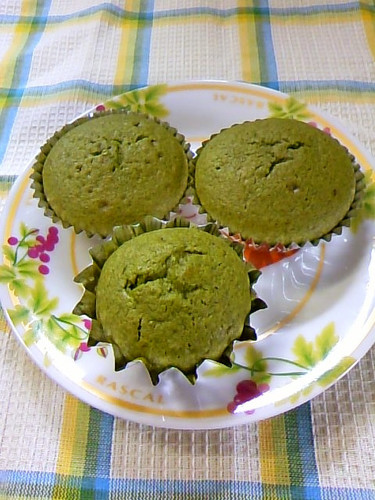 Matcha Muffins♡ with Pancake Mix