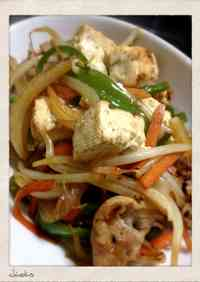 Chanpuruu with Firm Tofu