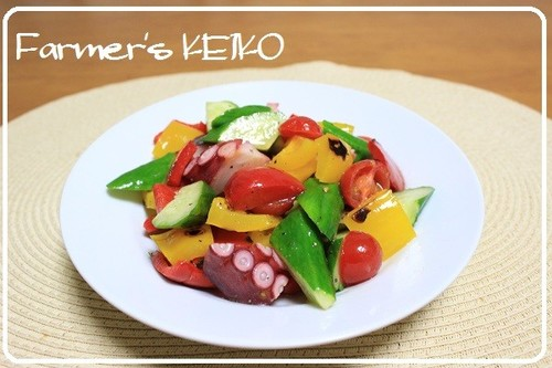 [Farmhouse Recipe] Colorful Vegetables with Marinated Octopus