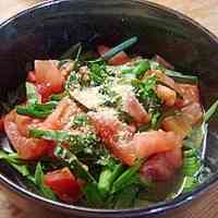 Delicious Beyond Imagination! Chive and Tomato Salad