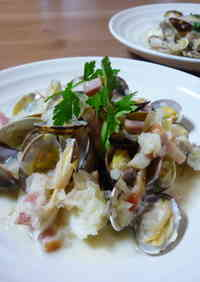 Simple Cod and Manila Clams Steamed in Wine
