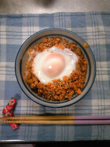Warm and Creamy Egg Natto Rice