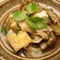 Simmered Maitake and Atsuage