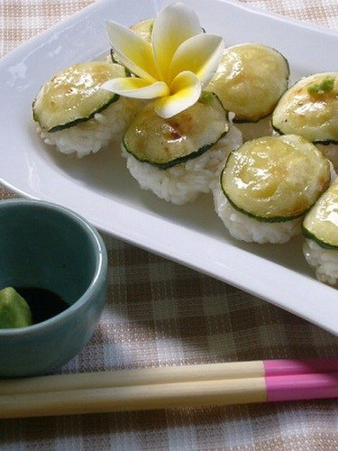 Vegetarian Zucchini Sushi