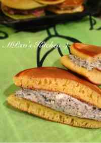 Seriously Delicious! Sesame Cream Cheese Dorayaki