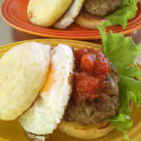 English Muffin Hamburger